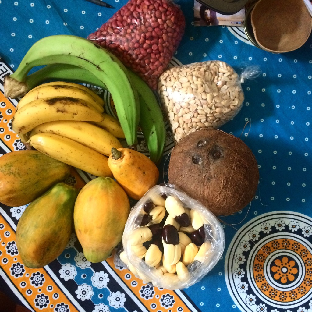 Jamaican Fruits on Colorful Tablecloth